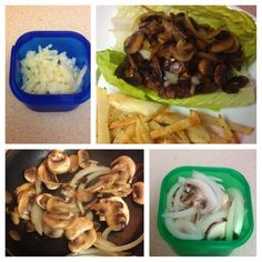 Burger and fries 21 day fix style 21 Day Fix Challenge, 21 Day Fix Plan, Healthy Food Options, Healthy Recipes, Healthy Meals, Burger And Fries, Burgers, 21 Day Fix Recipies, Beachbody 21 Day Fix