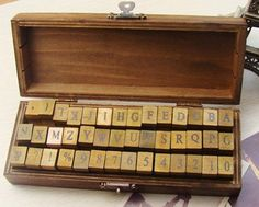 Oh, we just love our #alphabetstamps  These #stamps come in an adorable #woodenbox with all the letters and numbers.
