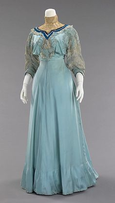 Dress, Afternoon  House of Paquin  (French, 1891–1956)  Designer: Mme. Jeanne Paquin (French, 1869–1936) Date: 1906–8 Culture: French Medium: silk
