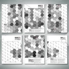 Hexagonal Brochure Or Flyer Patterns Creative Business Card Templates Hexagon Pattern Geometric Background