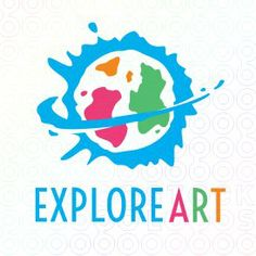 explore art logo paint effects art logo babysitting logo design playground