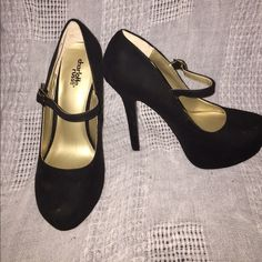 """6"""" Suede MaryJane Pumps Size 8, 6"""" Suede Mary Jane Pumps from Charlotte Russe. Worn twice. Charlotte Russe Shoes Heels"""