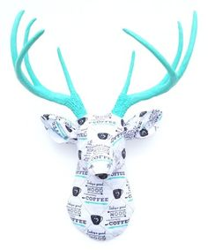 Another great find on White & Aqua 'Coffee' Stag Bust Wall Décor Wall Décor, Picture Wall, Deer, Aqua, Walls, Christmas Ornaments, Coffee, Holiday Decor, Pictures