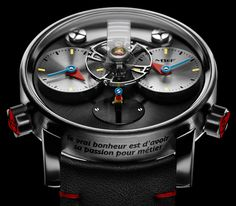 Silberstein - Performance Art X Power reserve: 45 hrs, limited edition of 3 x 12 pieces in red gold, titanium, or black PVD-treated titanium Dream Watches, Sport Watches, Luxury Watches, Best Watches For Men, Cool Watches, Men's Watches, Alain Silberstein, Mechanical Watch, Audemars Piguet