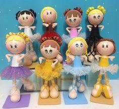 Bonecas bailarinas em Eva