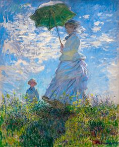Woman with a Parasol, Monet 1875, Fade Resistant HD Art Print in Art, Prints | eBay