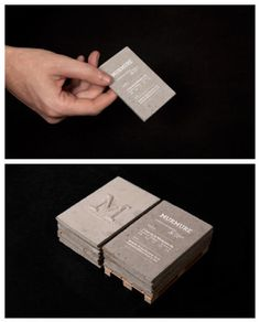 Wow! We need some of these ASAP! Concrete business card design