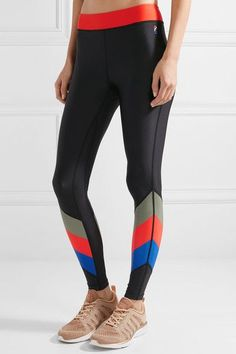 Multicolored stretch-polyester Pull on 75% polyester, 25% elastane Machine wash Imported