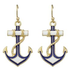 3.21$  Buy here - http://dio1p.justgood.pw/go.php?t=182527101 - Pair of Anchor Drop Earrings 3.21$