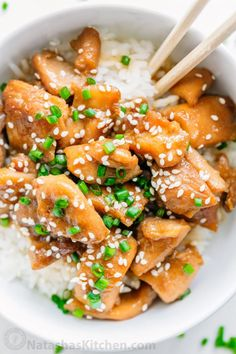 Easy Teriyaki Chicken Recipe that tastes better than takeout. This chicken teriyaki is a family favorite! Simple easy dinner idea. We served it over buttery white rice with broccoli. Yum! | natashaskitchen.com