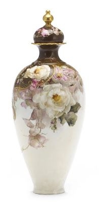 Painted porcelain plates and vases by Franz Bischoff - Fragile Beauty