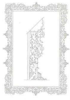 Islamic Art Pattern, Arabic Pattern, Beautiful Calligraphy, Islamic Art Calligraphy, Border Pattern, Pattern Art, Stencils, Art Articles, Persian Motifs