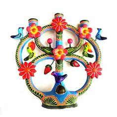 Mexican Candle Holder Wide