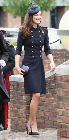 She loves the military look #KateMiddleton.  Always looking totally amazing.  We love Kate's classic fashion looks!