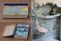 Moby Dick Shadowbox by Suzette Korduner  Step 1: Put a whale in a box Step 2: Moby-Dick in a box