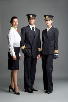 female pilot uniform - Google Search Pilot Uniform, Men In Uniform, Air France, Stewardess Pantyhose, Airline Uniforms, Airline Pilot, School Uniforms, Air Hostess Uniform, Stewardess Costume