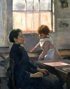 """School is Out"" 1889. Elizabeth Adela Stanhope Forbes"