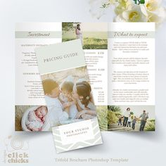 Wedding Photography Square Trifold Brochure X In By Smmrdesign