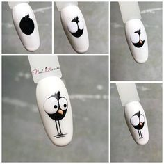 Disney Acrylic Nails, Disney Nails, Best Acrylic Nails, Funky Nail Art, Funky Nails, Cute Nails, Natural Nail Designs, Simple Nail Art Designs, Nail Art Designs Videos