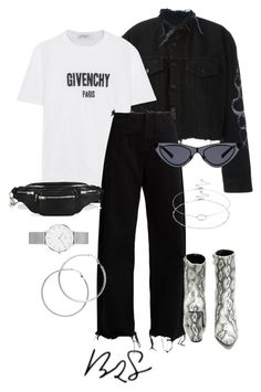 """#859"" by blendingtwostyles ❤ liked on Polyvore featuring County Of Milan, Daniel Wellington, Givenchy, Marques'Almeida, Melissa Odabash, Cape Robbin, Alexander Wang and Accessorize"