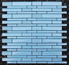 Baby Blue Glass Mosaic Random Pattern Tile for Backsplash and Bathroom Wall