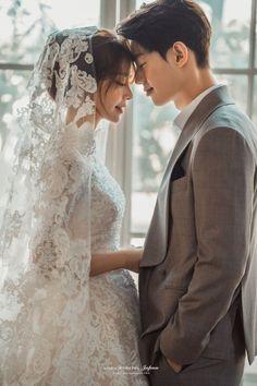 Korea pre wedding by maiden Pre Wedding Poses, Wedding Picture Poses, Wedding Couple Photos, Pre Wedding Photoshoot, Wedding Pics, Wedding Shoot, Wedding Couples, Wedding Hijab, Wedding Dresses