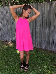 Pretty In Pink Halter Dress