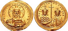Constantine's daughter, Empress Zoe, appears on few coins Medieval, Byzantine Gold, Coin Design, Gold And Silver Coins, Pirate Treasure, 11th Century, Half Dollar, Coin Collecting, Senior Portraits