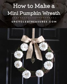 Need a little spirit added to your front door? LOVE this simple fall neutral…