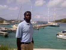 Savio, dockmaster at Scrub Island Resort and Marina in British Virgin Islands