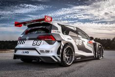 It has 244 more horsepower than the stock 2018 VW Golf R it's based on. Vw Golf R, Volkswagen Golf R, Vw Motorsport, Racing Car Design, Cute Cars, Performance Cars, Rally Car, Car Wrap, Car Tuning