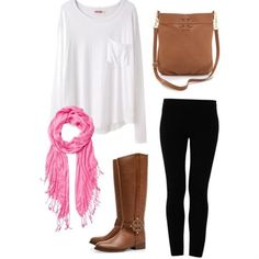 by southernprepgirl on polyvore Really love flowy shirts with leggings