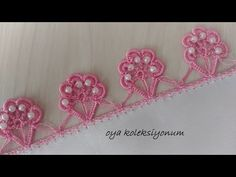 Baby Knitting Patterns, Lace Knitting, Knitting Stitches, Embroidery Stitches, Crochet Flower Tutorial, Crochet Flowers, Design Your Own Socks, Bead Crochet, Crochet Necklace