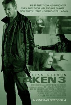 TAKEN 3 is een Franse (Engelstalige) actiefilm uit 2014 onder regie van Olivier Megaton. Taken 3 is zowel productie- als verhaaltechnisch een vervolg op Taken 2 uit 2012. Wederom in de hoofdrol Liam Neeson, bijgestaan door Famke Janssen en Maggie Grace.