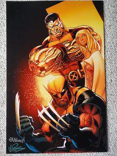 Ed McGuinness x Men Wolverine Emma Frost Colossus Fine Art Print Signed   eBay