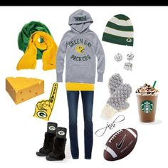 oooohhhhh Green Bay Packers outfit!!! This is definitely a need!