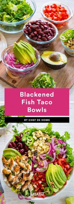 Guac isn't extra when you make the bowl yourself. #greatist http://greatist.com/eat/healthy-taco-bowl-recipes #JamiesCleanEatingrecipes