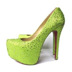 cheap Christian Louboutin Daffodile Aurora Boreale Pumps Grass Green.Please click picture to buy and get more detail.