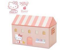 Hello Kitty x Rosier Genuine Leather Luxury Jewelry Box Jewelry Case Pink SANRIO JAPAN
