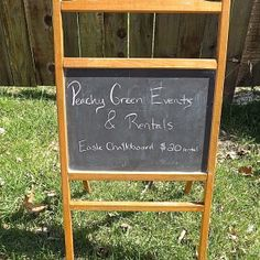 Vintage chalkboard easel for rent Chalkboard Easel, Vintage Chalkboard, Wedding Events, Weddings, Birthdays, Green, Holiday, Anniversaries, Vacations
