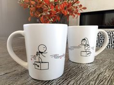 """BoldLoft Endless Love His and Hers Wedding Coffee Mugs. Marriage is a dance between two people to a song they hold in their hearts, whose melody may at times be a whisper yet never fades away. Be priceless and be courageous for each other's """"Endless Love""""."""