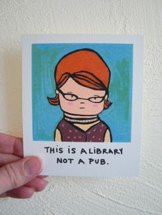 Librarian Funny Magnet Geek 60s Retro by SimplyCutebyKarin on Etsy, $6.75