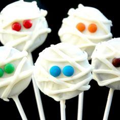 #Mummy #cookie pops - #Halloween