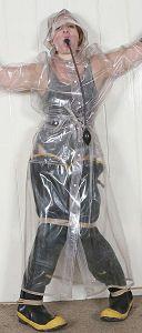 Rainbound - Rainwear Bondage with the Pvc & Rubber Clad Weathergirls - Index Page Pvc Raincoat, Plastic Raincoat, Heavy Rubber, Pvc Vinyl, Rain Wear, Coats For Women, Gas Masks, Lady, Womens Fashion