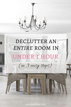 Find out the 3 easy steps to declutter an entire room efficiently so that it only takes you an hour. Minimal Living, Simple Living, Household Chores, Household Tips, Declutter Your Home, Slow Living, Staying Organized, Spring Cleaning, Home Organization