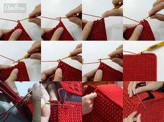 Red Bobble Stitch Hand Bag