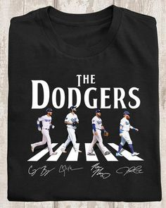 The Los Angeles Dodgers Players Abbey Road Cody Clayton Max Justin Signed T Shirt Men And Women T Shirt Dodgers Girl, Dodgers Baseball, Dodgers Party, Dodgers Shirts, Dodger Blue, Buster Posey, Derek Jeter, Oakland Athletics, St Louis Cardinals