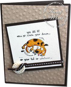 CARD: Giggle Greetings Tail Chasing Dog | Stampin Up Demonstrator - Tami White - Stamp With Tami Stampin Up blog
