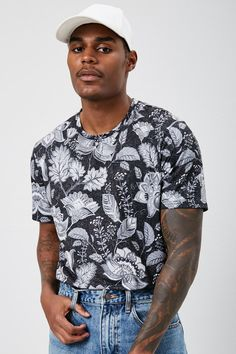 Men's Clothing Diplomatic Cotton Summer Ink Beauty Printed T Shirt O-neck Short Sleeve T-shirt Vivid Chinese Style Tee Men Hipster Tops Streetwear