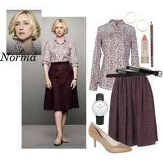 Norma Bates by crazyalygator on Polyvore featuring moda, Dsquared2, Vince Camuto, Daniel Wellington, Kristen Elspeth, Cole Haan, Ilia, H&M, batesmotel and normabates